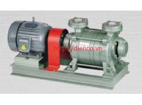 Máy bơm hút chân không vòng nước rời trục 2 cấp hiệu HANCHANG Model: HWVP-2-045/150